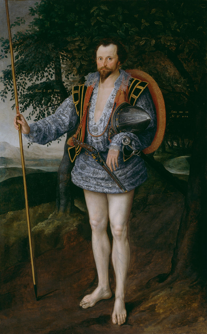 Marcus Gheeraerts the Younger, Captain Thomas Lee in Irish Dress, 1594.