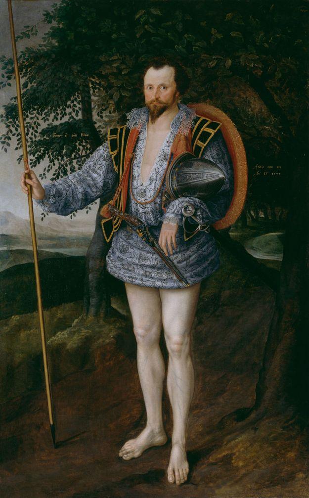 Marcus Gheeraerts the Younger, Captain Thomas Lee in Irish Dress, 1594.