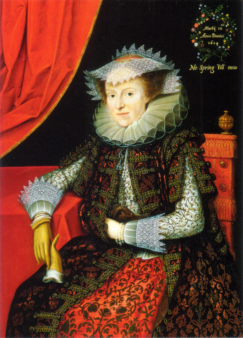 Gheeraerts the Younger, Probably Mary (née Throckmorton), Lady Scudamore, oil on panel, 1615.