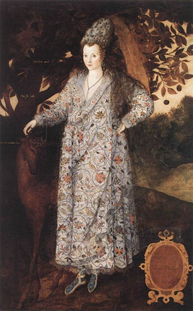 Gheeraerts the Younger, Lady in Fancy dress (the Persian Lady), 1590.