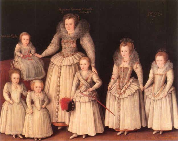 Gheeraerts_Barbara_Gamage_with_Six_Children 1596