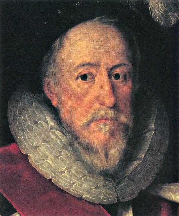 Sir Henry Lee in Garter Robes, 1602 (detail).