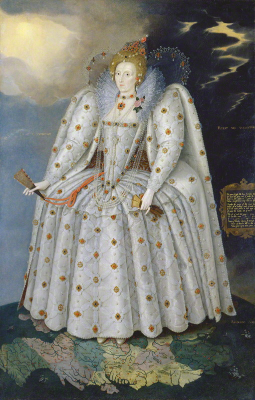 NPG 2561; Queen Elizabeth I ('The Ditchley portrait') by Marcus Gheeraerts the Younger