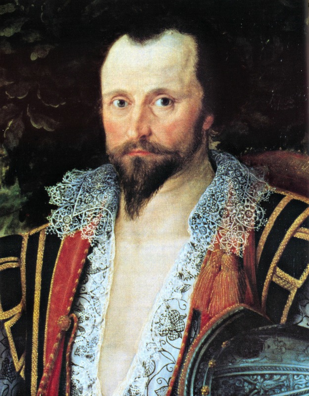 Captain Thomas Lee in Irish Dress, 1594.