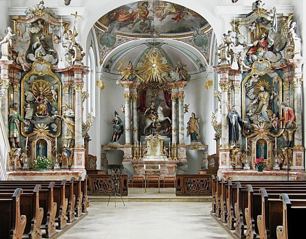 Interior, St. Georg München-Bogenhausen.