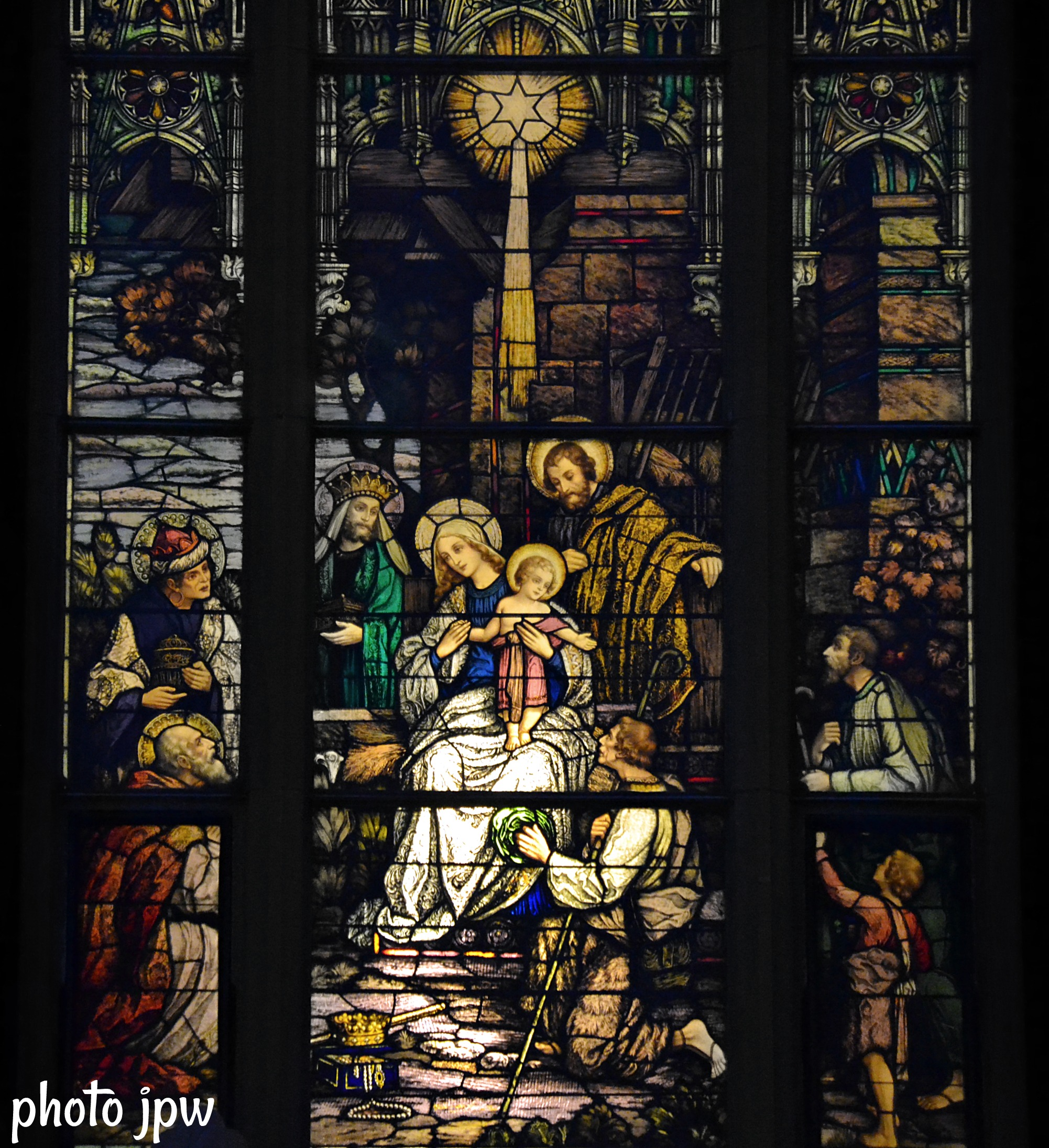 Nativity window.