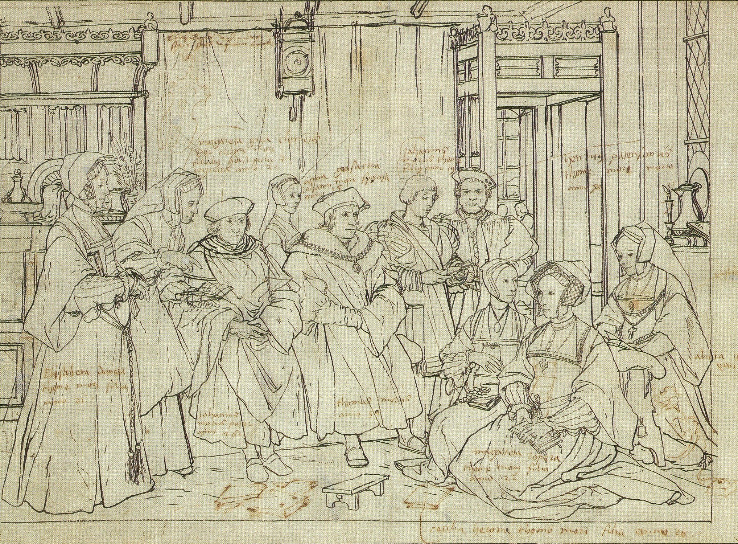Preparatory drawing More Family 1526/27