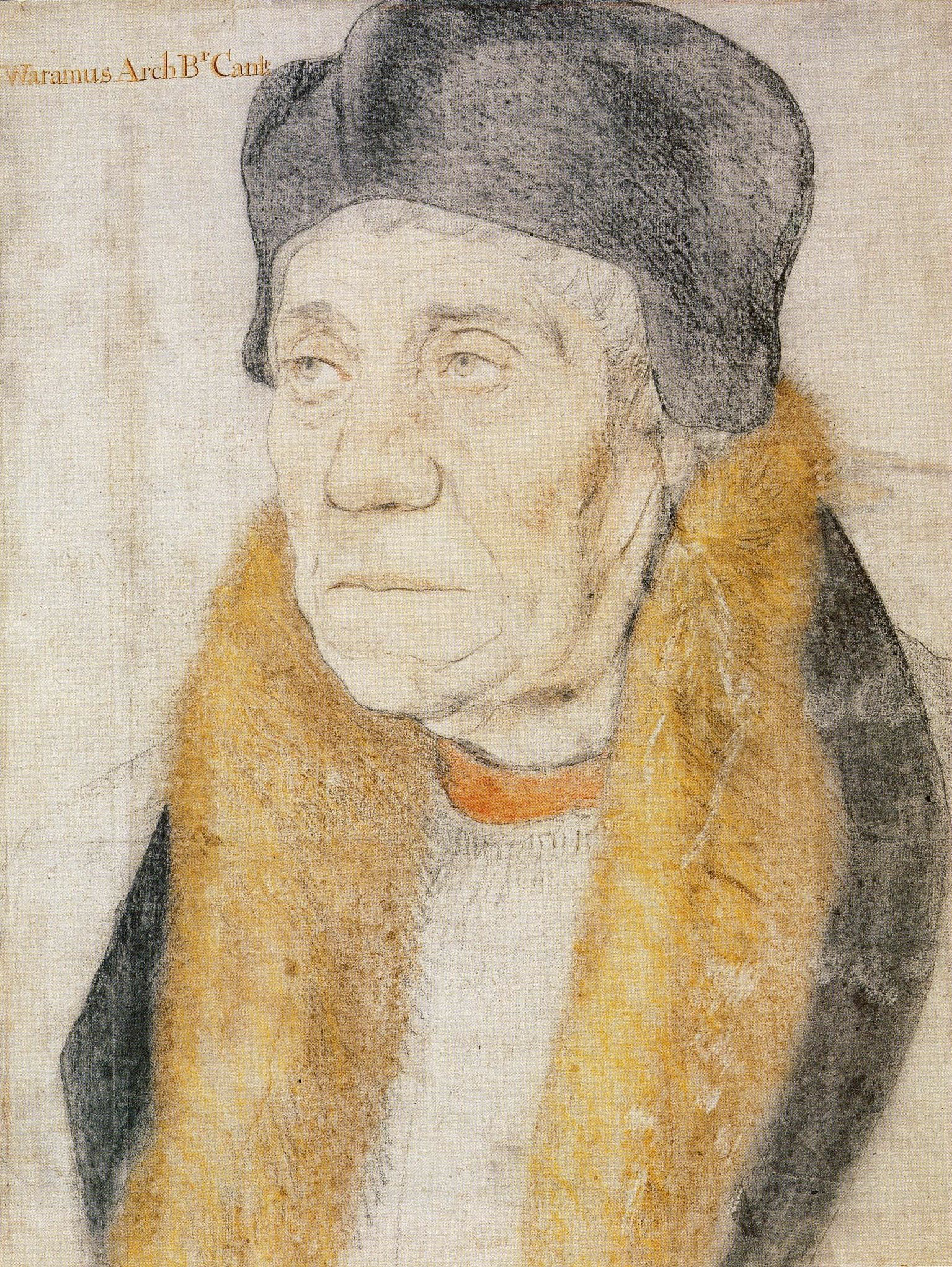 William Warham Archbishop Canterbury drawing by Hans Holbein the Younger