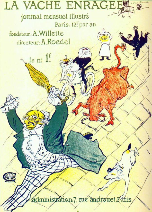 Lautrec_la_vache_enrage_the_mad_cow_1896