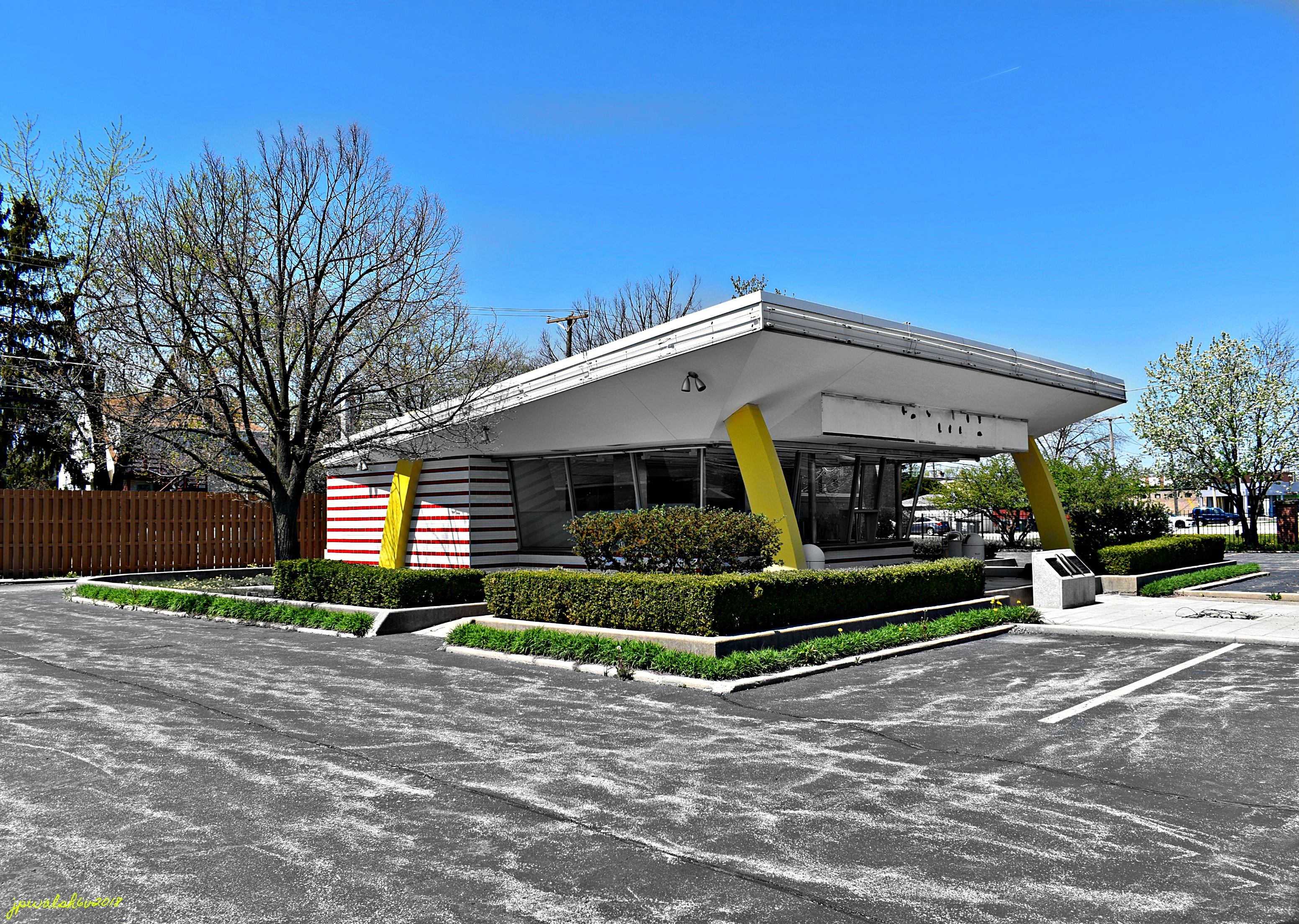 First McDonald's franchise restaurant, 1955, May 2018.
