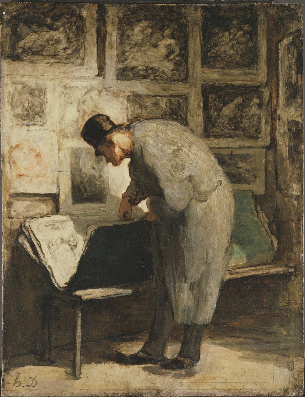 Daumier L'amateur d'estampes