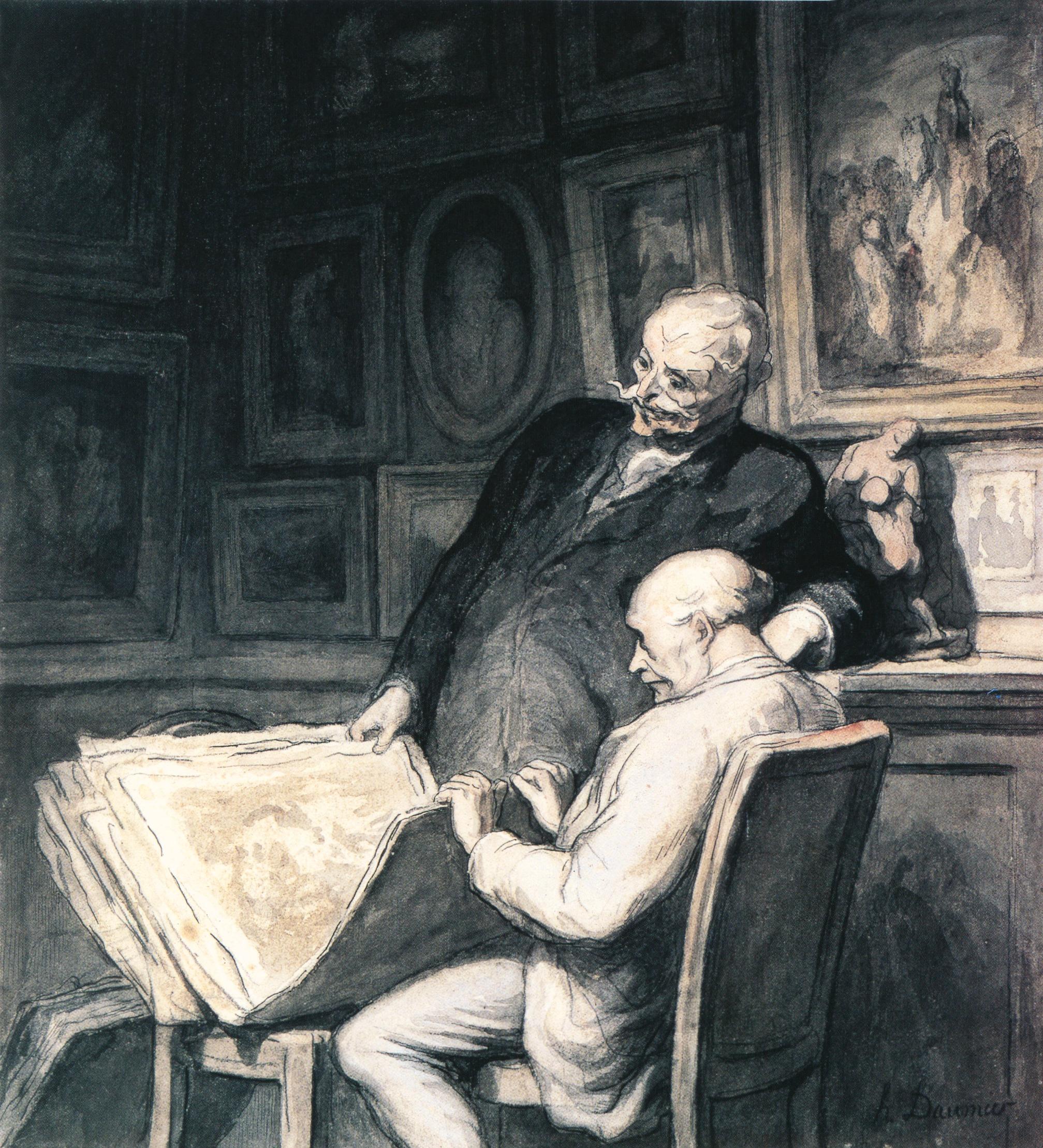 Daumier Les deux amateurs d'estampes, c. 1865-66