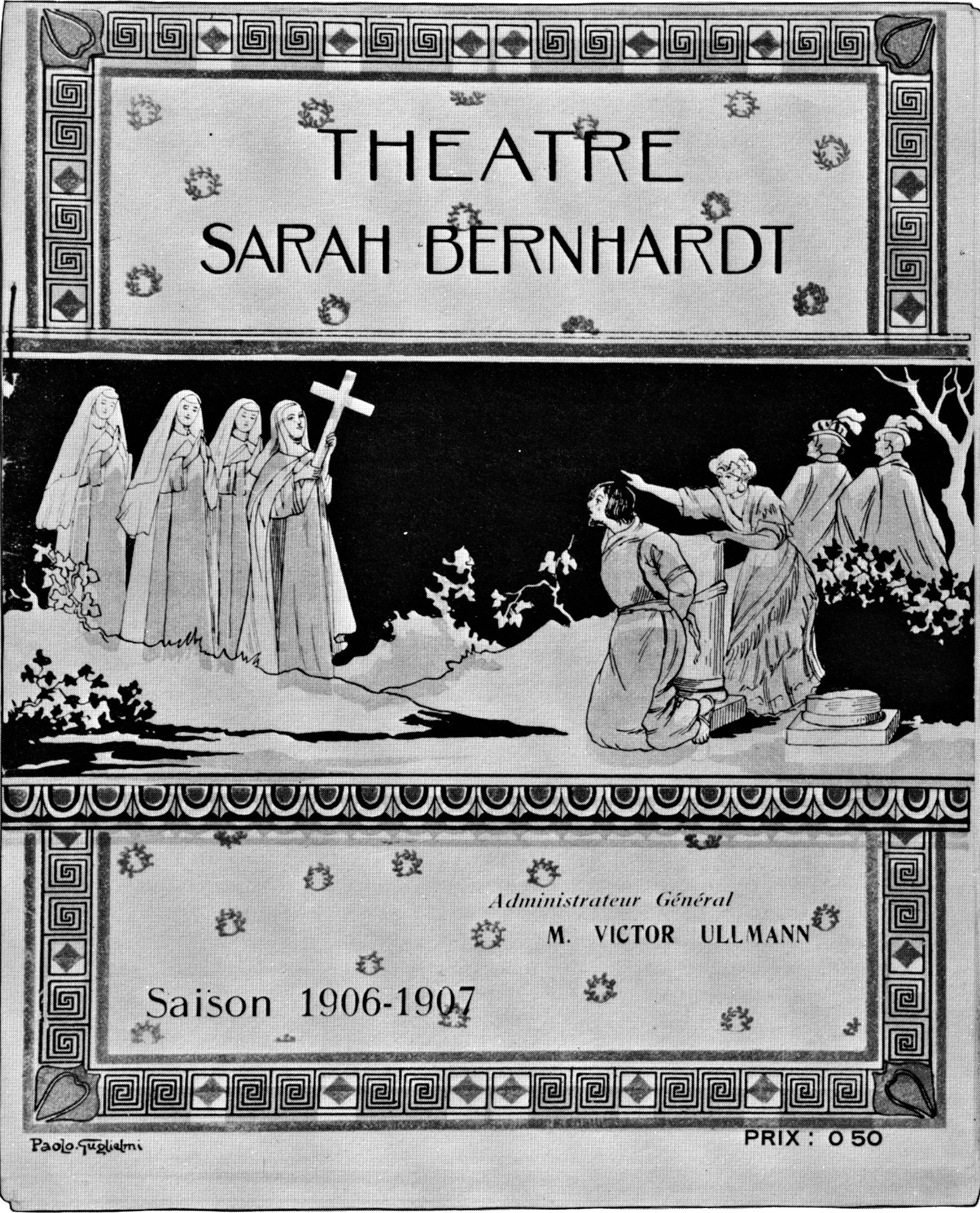 Theatre SB program 1906-07 for La Vierge d'Avila
