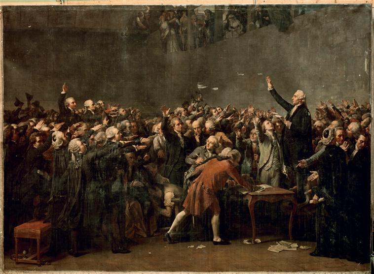 Couder Le Serment du Jeu de Paume, 20 juin 1789