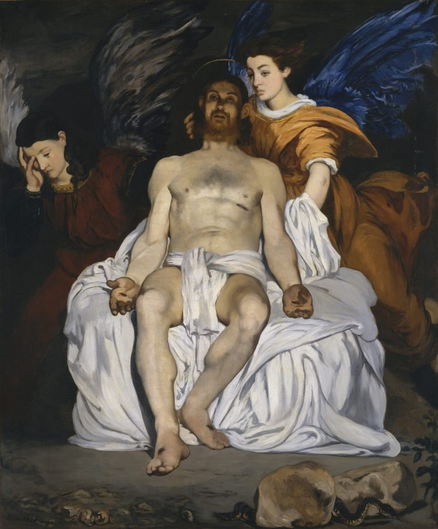Manet Dead Christ with Angels 1864 Met NY