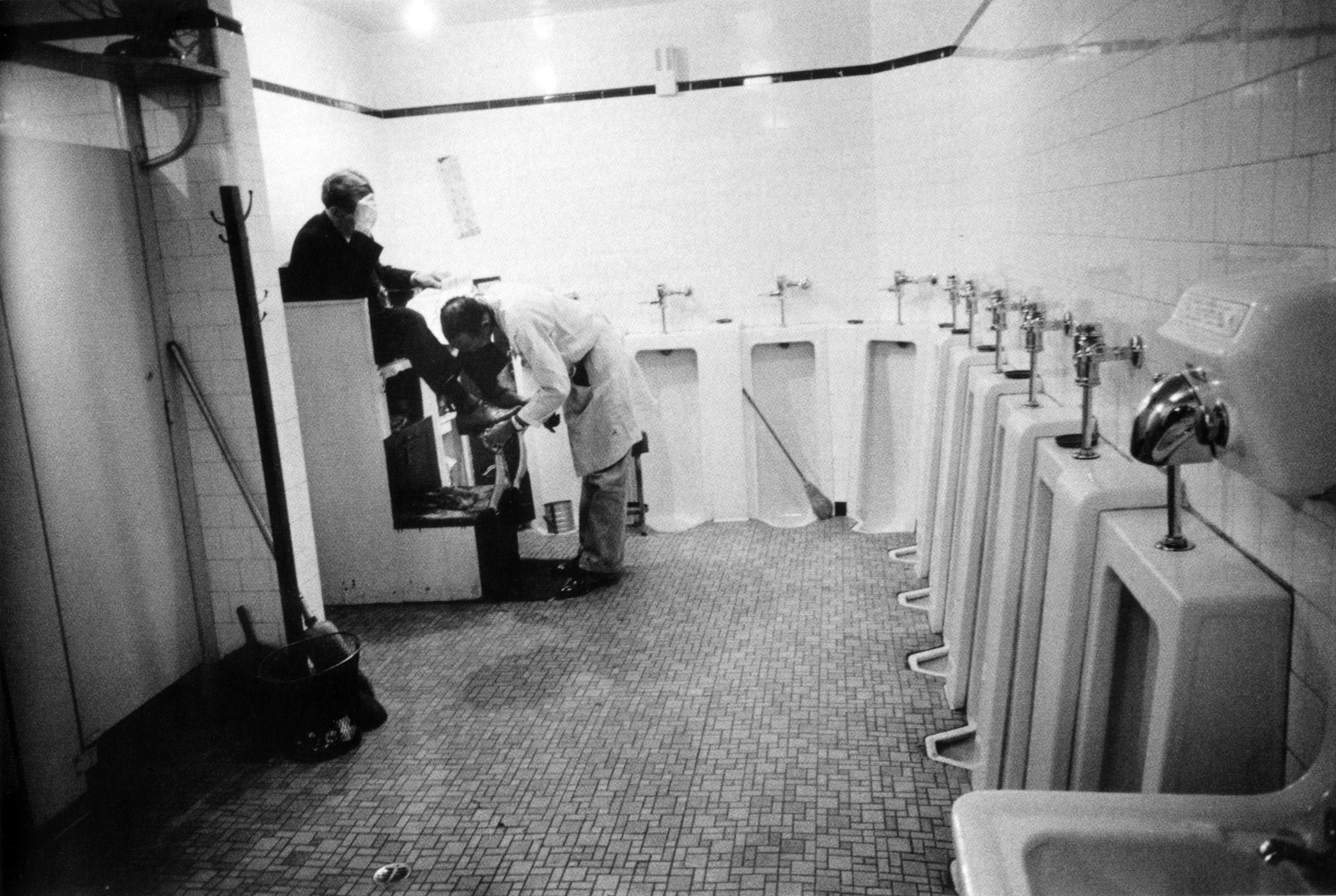 #52 Men's room, railway station - Memphis, TN, 1955