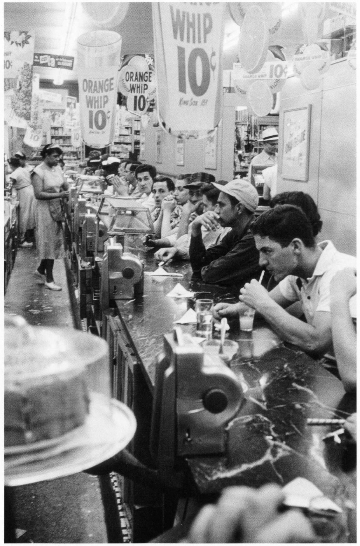 #69 Drug store-Detroit, 1955