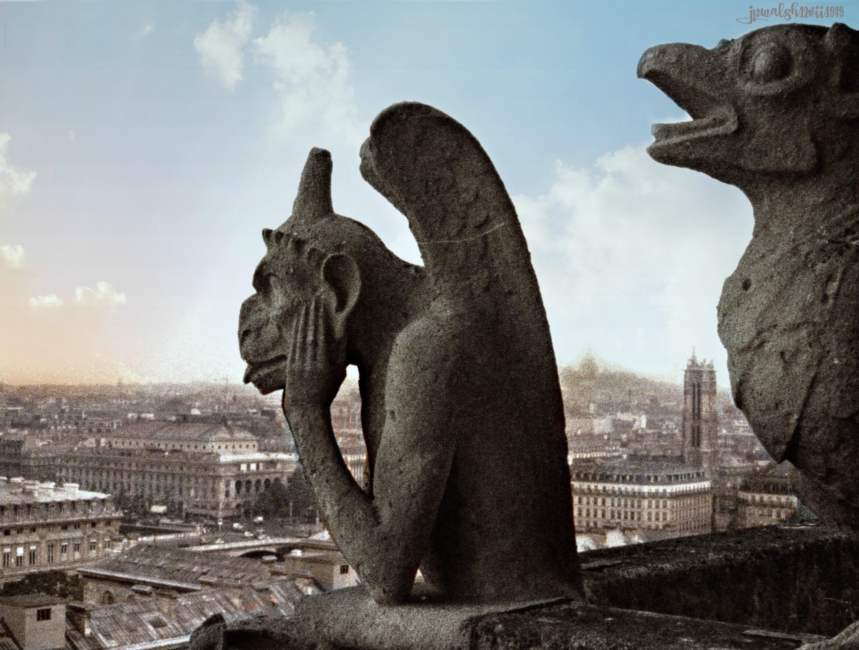 CSS-Gargoyle Notre Dame Paris July 1979