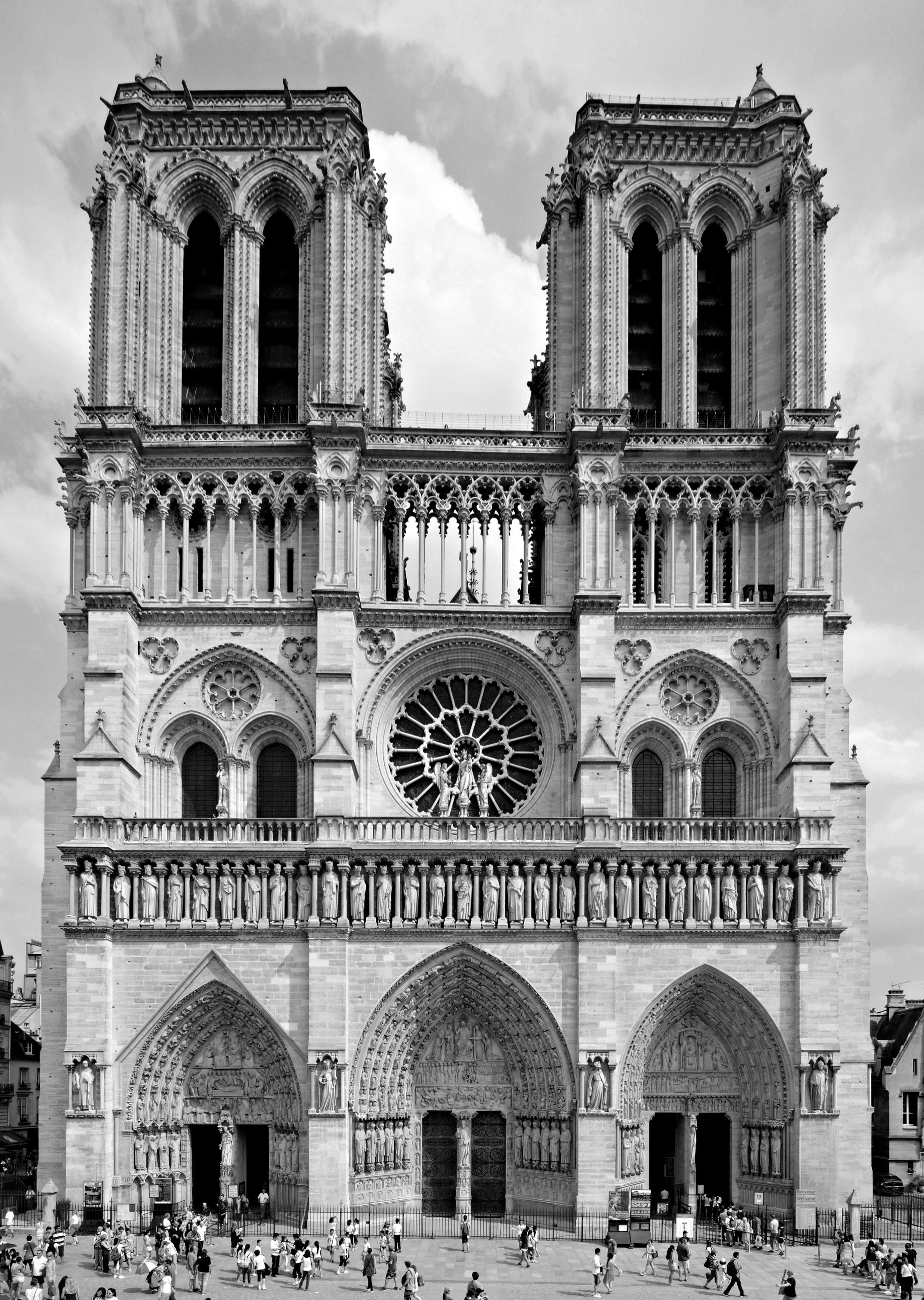 Facade Notre Dame de Paris
